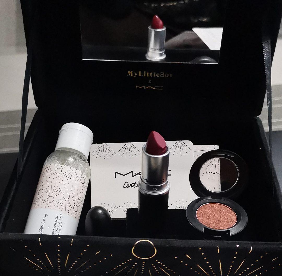 La box en collaboration avec Mac cosmetics